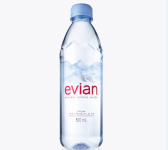 Evian's new 500ml US bottle; launches in different size formats are planned in coming months
