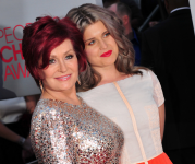 Sharon Osbourne (left) with daughter Kelly in January 2012 (Picture: Flickr/JJ Duncan)