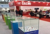 Caps produced using SACMI's ColoraCAP digital printing technology at Interpack 2014