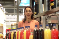 Tania Higgins presents Drinktec TV live from show floor in Munich, September 2013