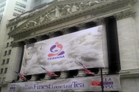 Starbucks will have to invest heavily in marketing its Teavana store concept, but a giant banner on the facade of the New York Stock Exchange in 2011 was no bad start (David Shankbone/Flickr)