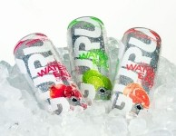 Guru's sparkling energy water claims to be the first of its kind. It is infused with green tea and is organic, sugar-free, calorie-free, GMO-free and vegan. Pic: Guru