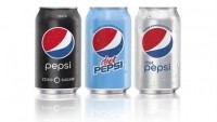 Left-right: Pepsi Zero Sugar, Diet Pepsi Classic Sweetener Blend, and Diet Pepsi. Source: PepsiCo