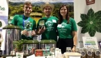 The Wize Monkey coffee leaf team team at the World Tea Expo, 2015