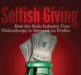 Cover to the CSPI report 'Selfish Giving'